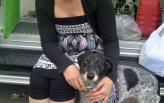 Maggie with her foster mum