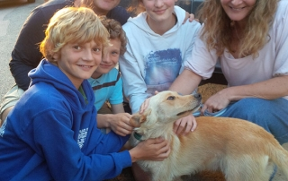 Hector with Jo, Jonny, Tilly, Samuel and William
