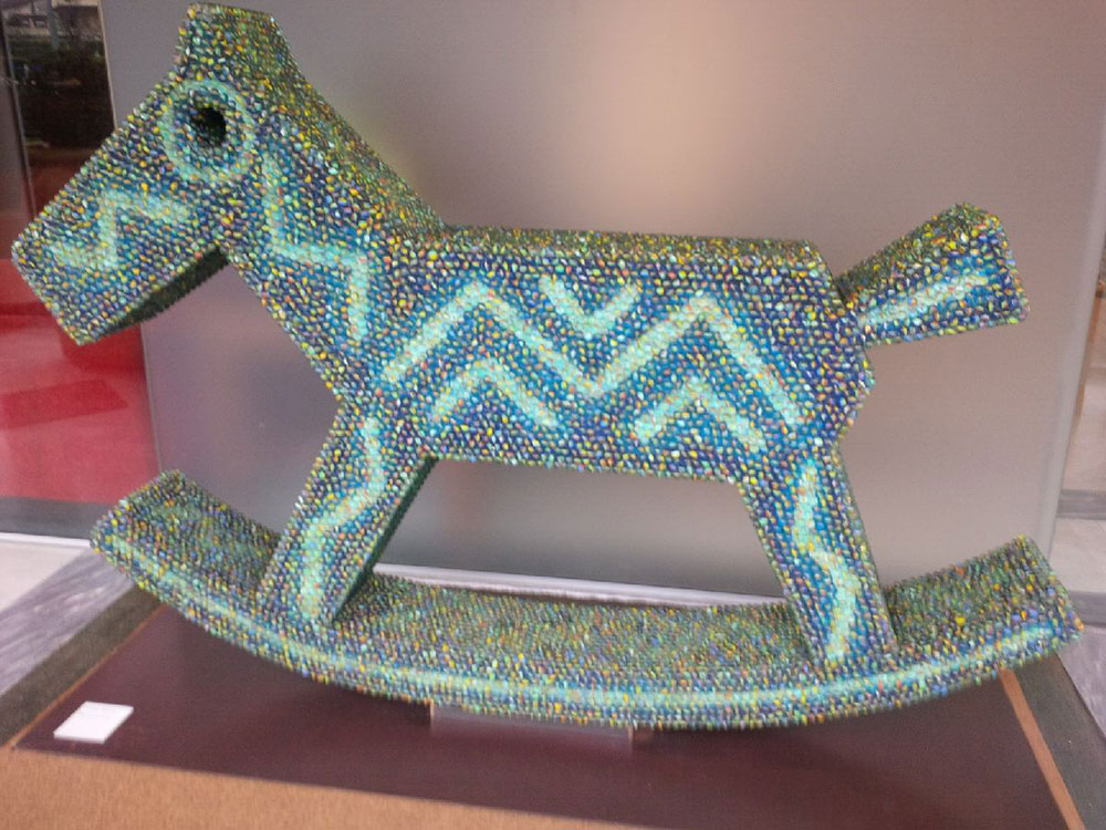 Rocking horse spotted in La Spezia — can you guess what it's made of?