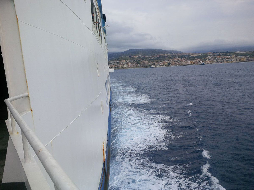 Crossing the Straits of Messina
