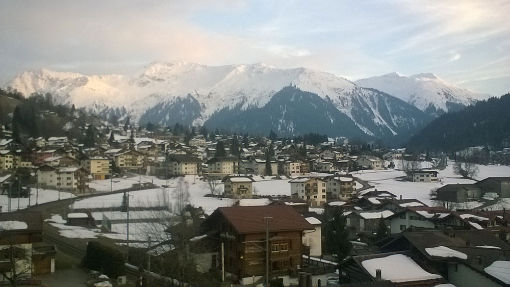 Glorious views around Klosters