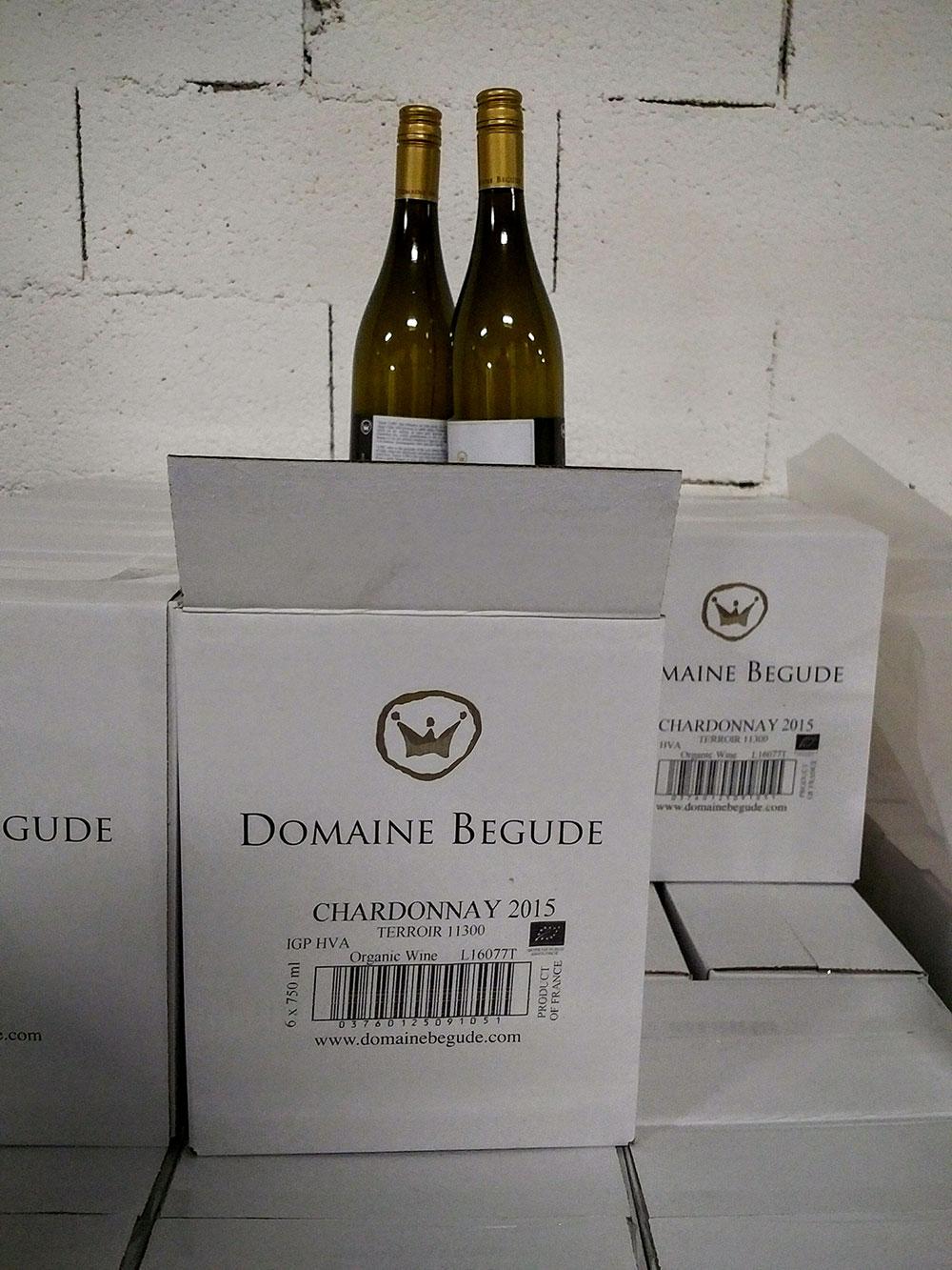 Domaine Bégude's award-winning chardonnay