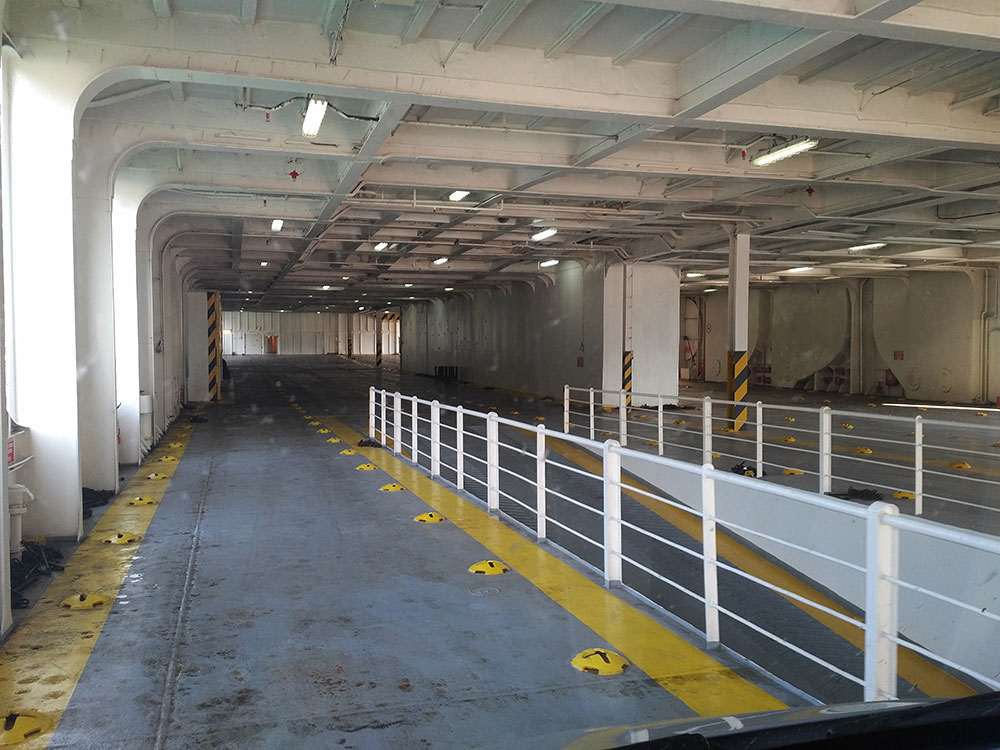 The open deck, where we parked our van