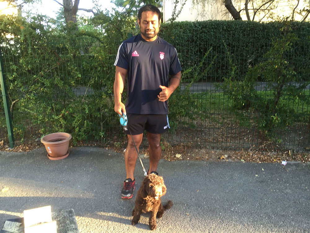 A friend of the family (and fellow rugby player) took charge of Coco in Aix, until her family arrived a couple of days later