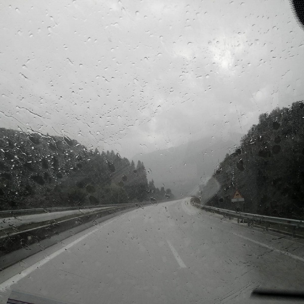 Pouring with rain