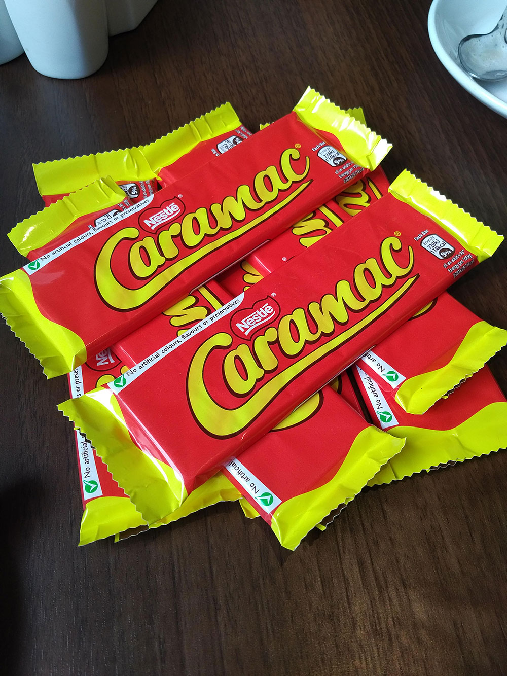 Shopping for local delicacies — caramac