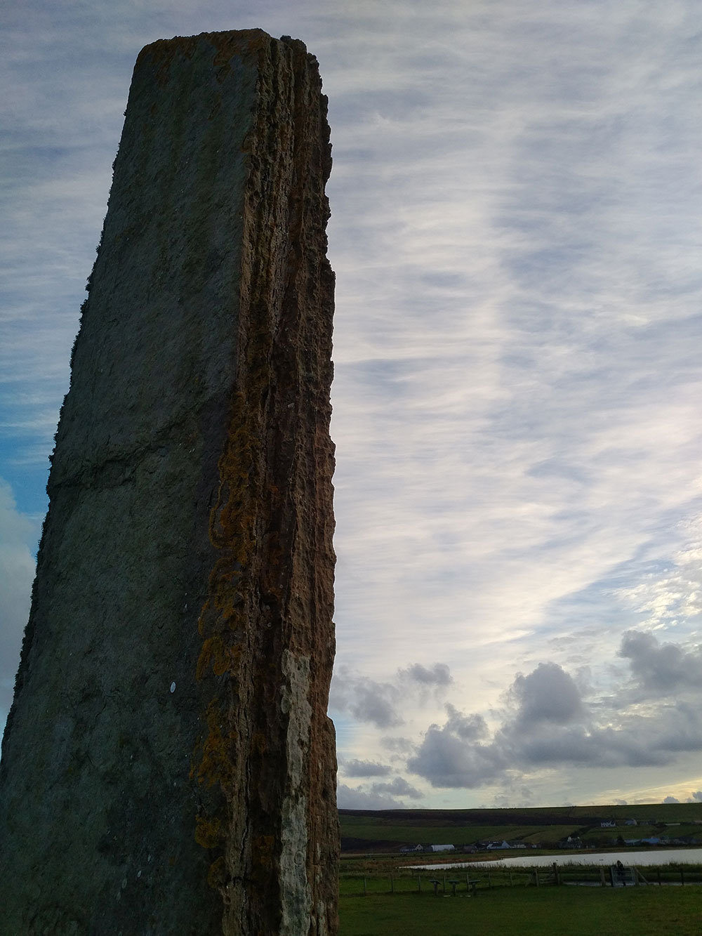 The Standing Stones of Stenness, a Neolithic monument on the Orkney mainland