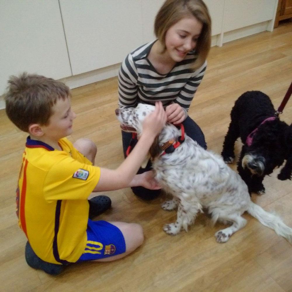 Sofie looks set for a lovely family life, alongside new four-legged friend Tess
