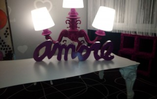 That's amore… a lamp in the hotel room in Milan