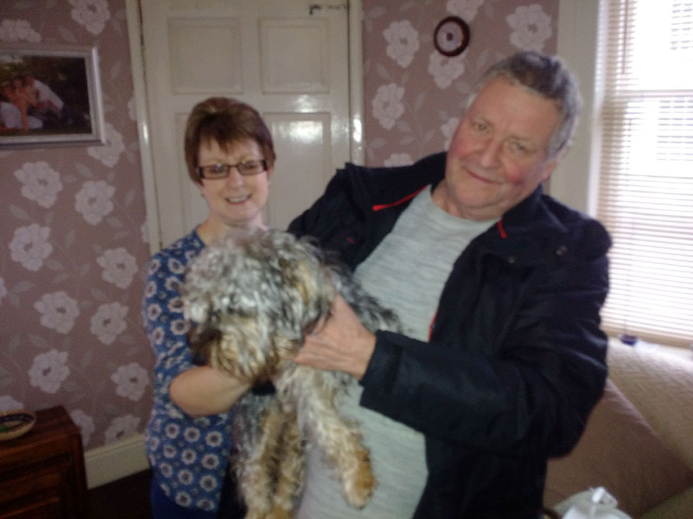 In Ludow, Shropshire, Victoria's parents Lynne and Ron were both at home waiting to greet Maxwell. They'll be taking care of him until Victoria arrives later in the week.