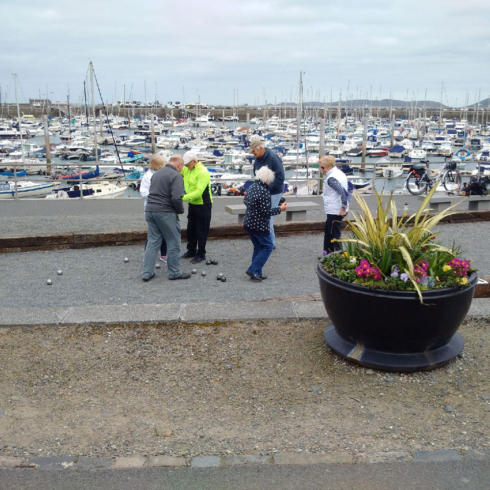 In front of the marina, these folk seemed to be taking their game of boules pretty seriously