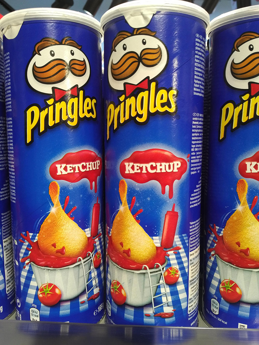 Ketchup flavour Pringles — whatever next!