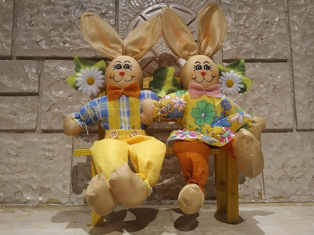 Peter R and Bugs B all ready for Easter
