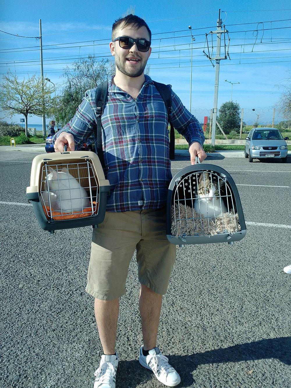 Caspar with his cats