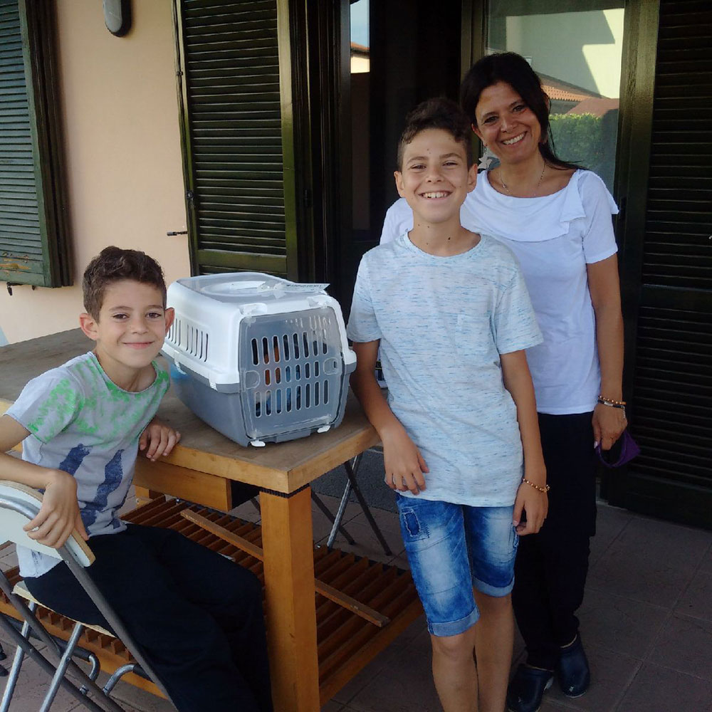to and from Italy: Tito gets a warm welcome from Francesca's mum and brothers