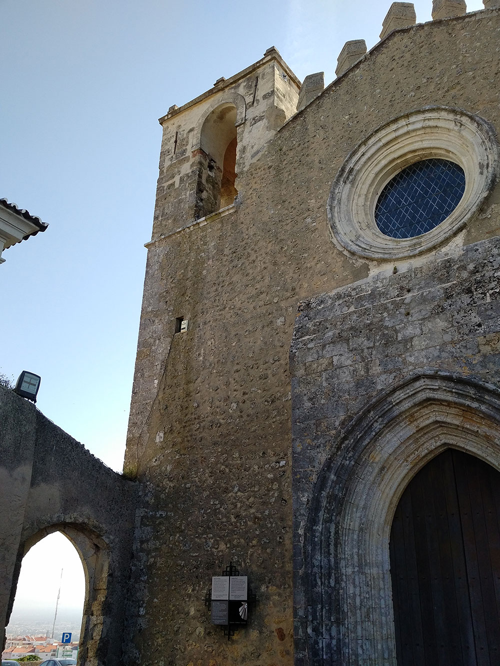 The late C15 Santiago church, where pilgrims would stop for a rest after climbing that hill
