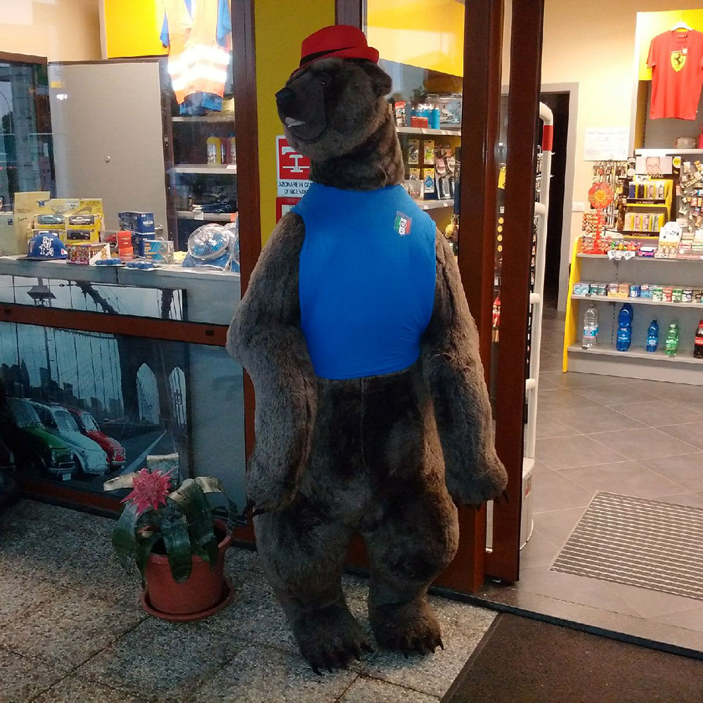 A rather taciturn shopkeeper encountered at a service station near Milan