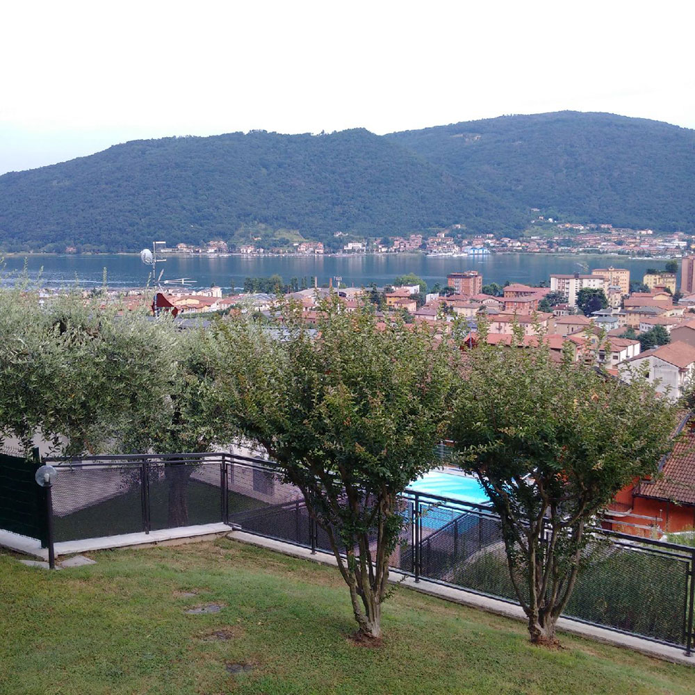 No wonder — there was a fine view over Sarnico from the terrace