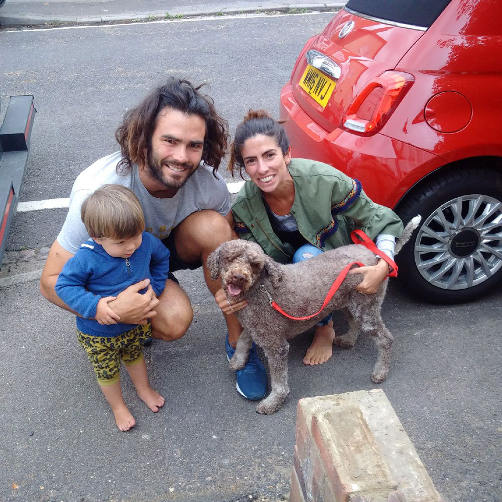 A very happy reunion for Arya with Luke, Stephanie and little Marcelo