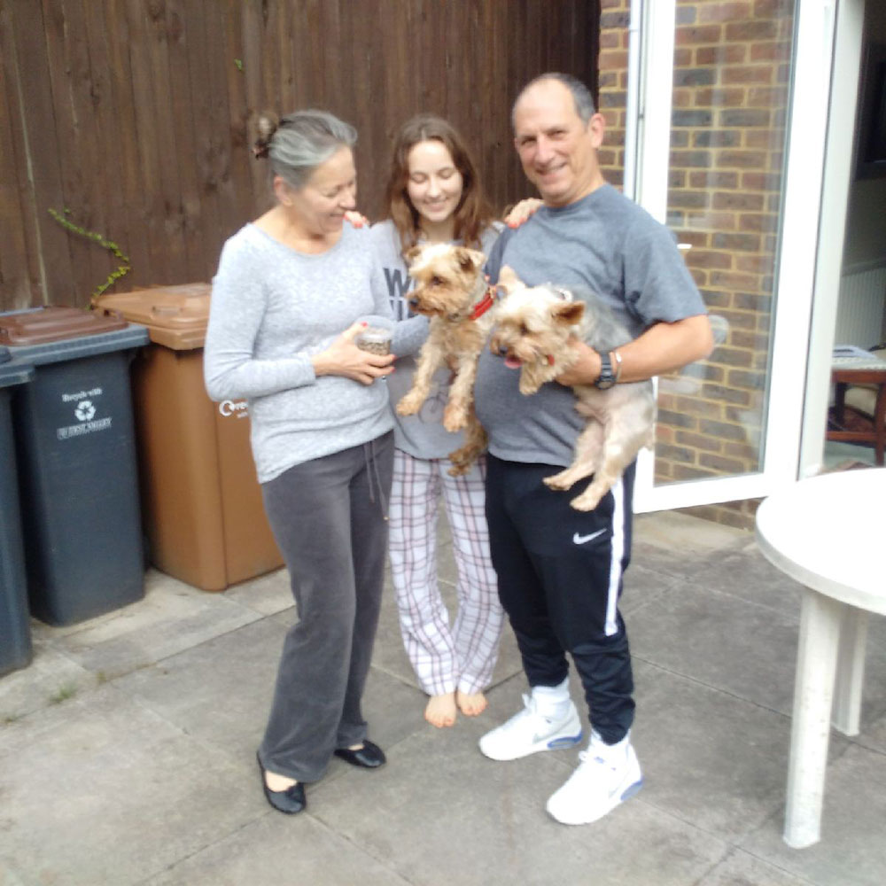 Ralph and Rambo reunited with their family in the UK