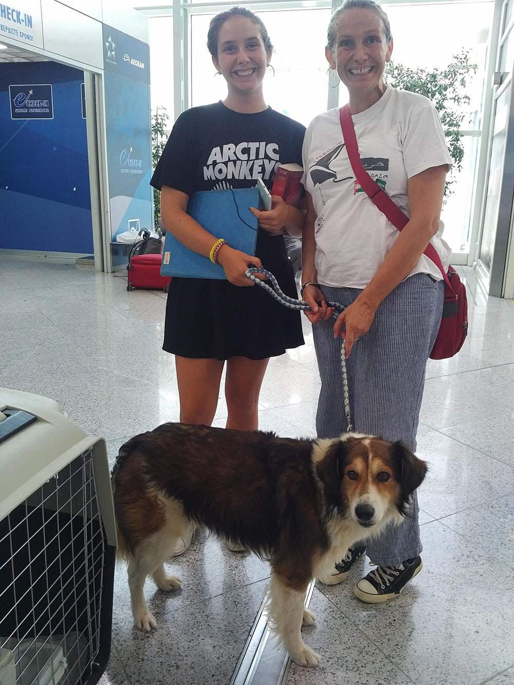 Hector was a last-minute addition to the trip. He belongs to Lee and her daughter, who will be following on shortly.
