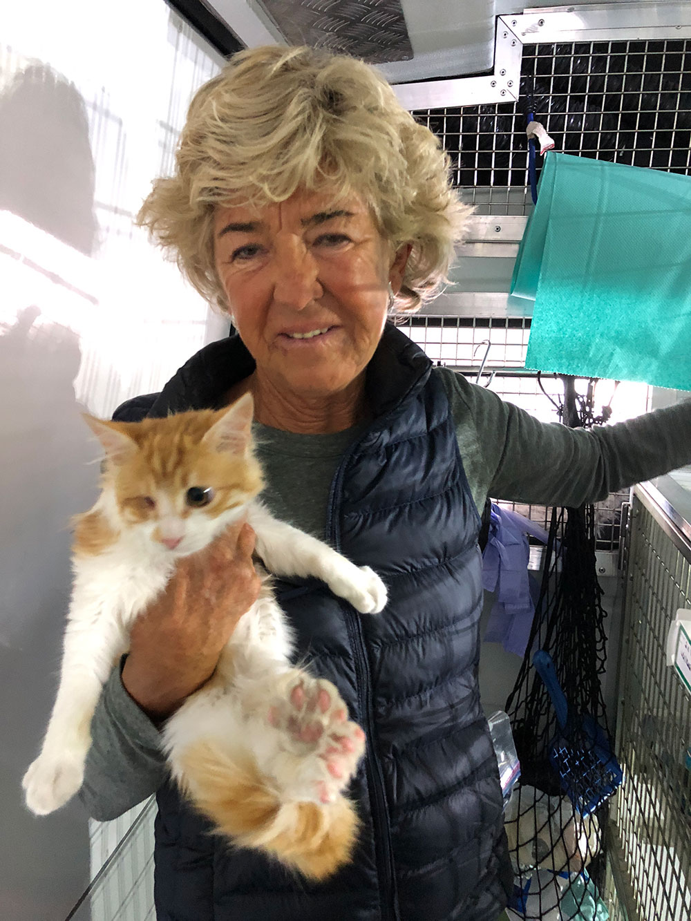Sandra has been taking super care of Luna until she was fit and ready to travel to the UK. She's so pleased that Luna has a loving home to go to.