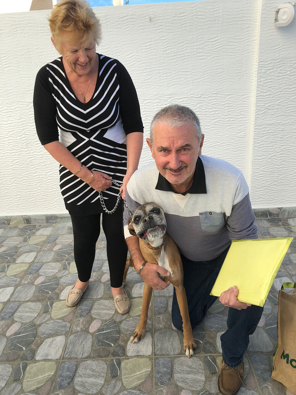 A warm welcome from David and Tash in Orihuela, who were on hand to take care of Arca until Steve and Ann arrived.
