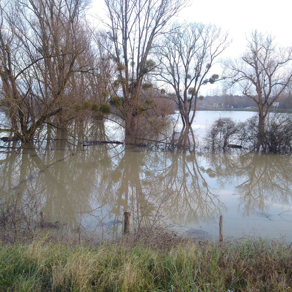 Driving through France, courier Richard saw first hand some of the flooding that's occurred in many parts of the country