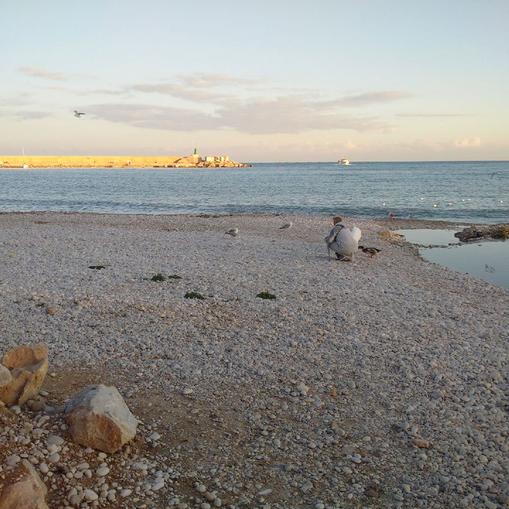 The beach at Altea, near Lucky's Spanish home