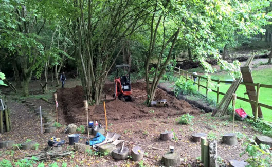 East Surrey Badger Protection Society – Building the artificial sett