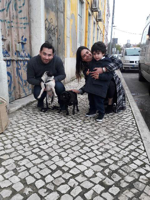 Happy reunions for Millie and Spike in the Portuguese capital