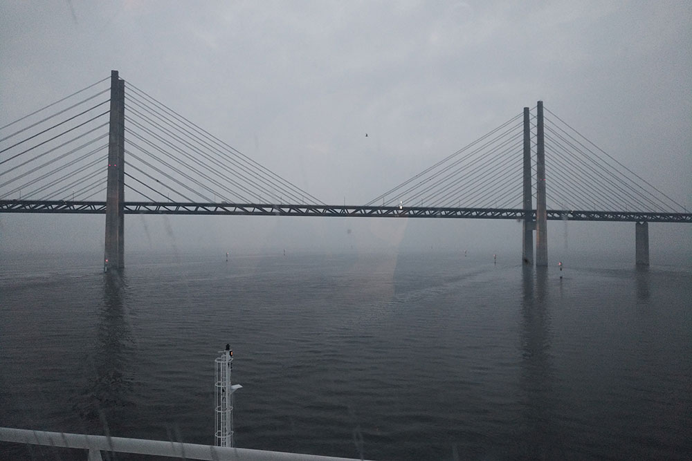 Travelling from Sweden: The overnight ferry to Malmö passes under the 16km-long Oresund Bridge, which links Denmark and Sweden
