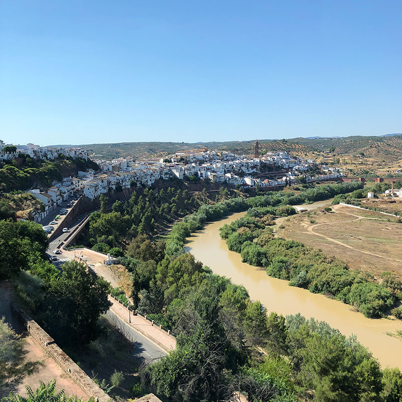 Visiting beautiful places like Montoro is one of the perks of the job. This was the view from our hotel, as we sat with a drink, planning our journey back to the UK.