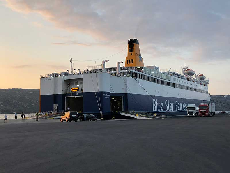 Our overnight ferry waiting at Souda port