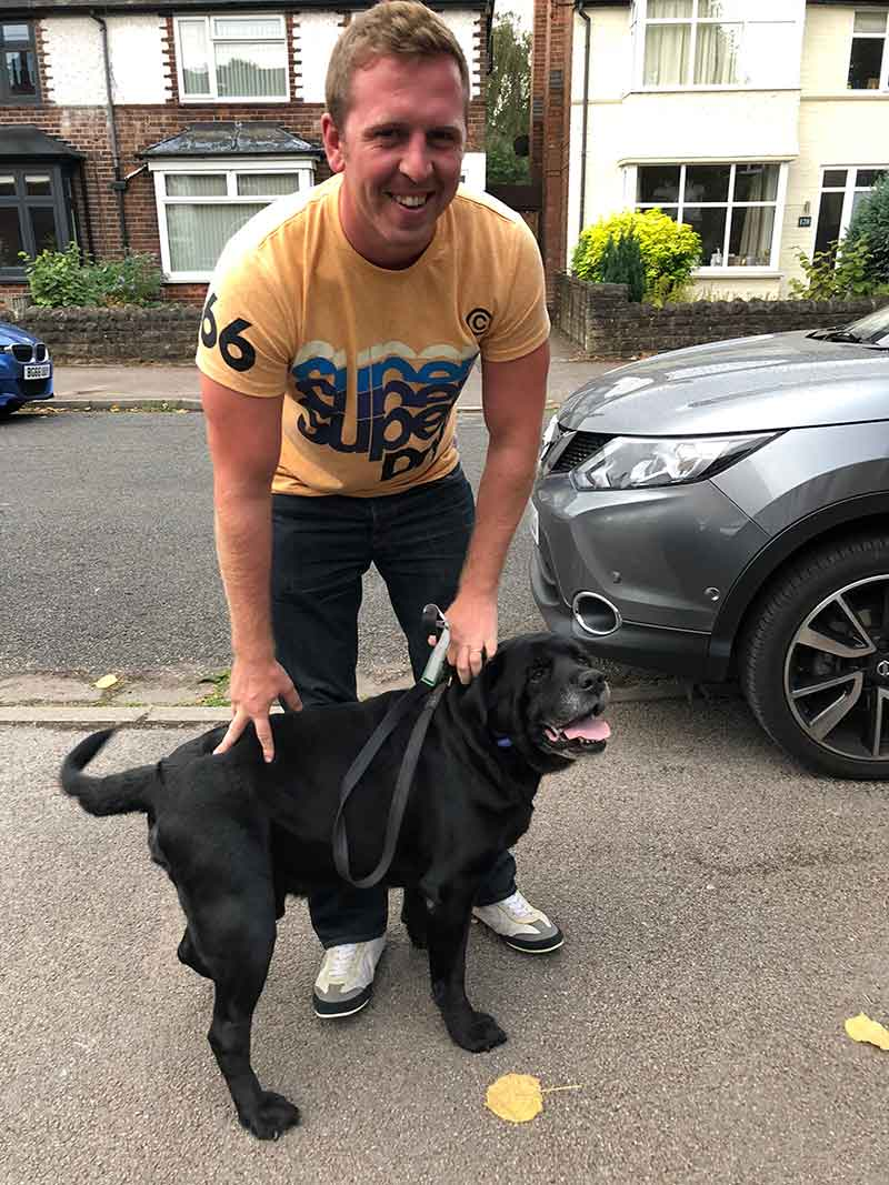 A happy reunion for Rocky and Russell in the UK