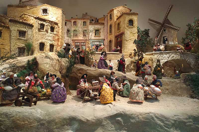 No pets to collect here — a very detailed model village on display at the Aire de l'Arc in Rousset