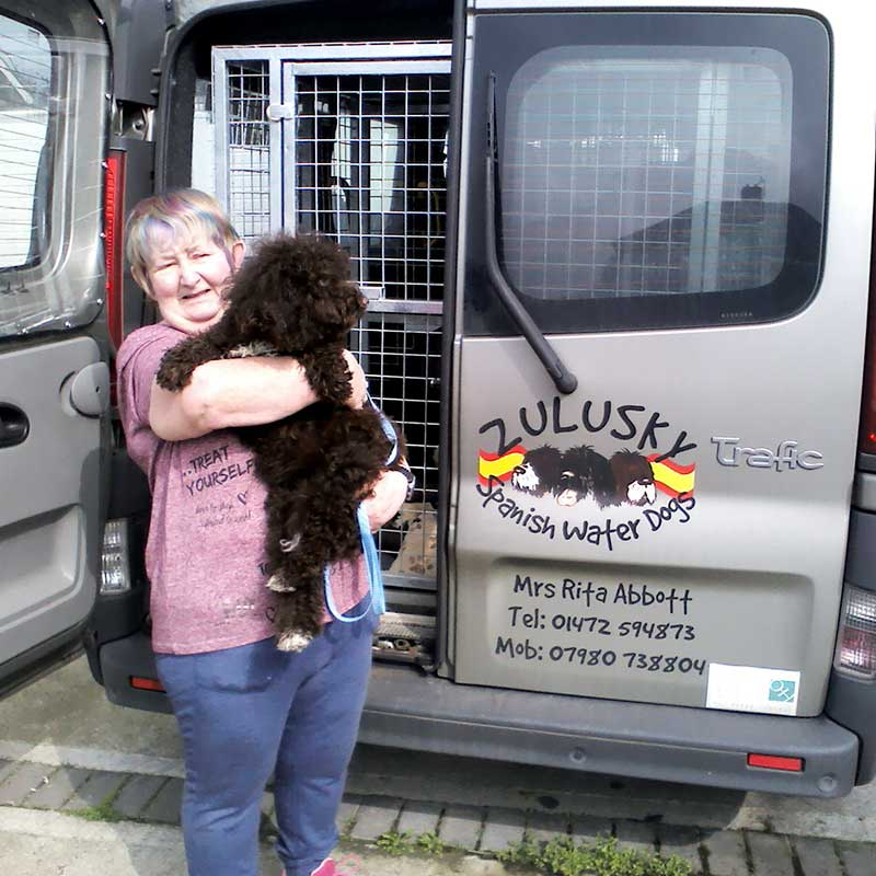 A goodbye hug for sweet Ruby in Grimsby