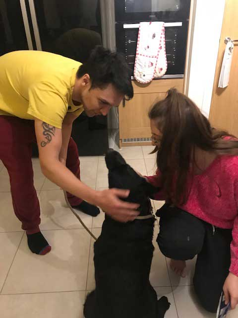 Love at first sight for Lola at her new home with Rose in Wiltshire