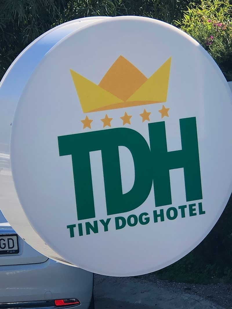 Hotel owner Antoinette spotted a niche market for boarding and day care for small dogs. The hotel is located in a lovely traditional house. While we were there, we watched a steady stream of small dogs and their owners popping in and out.