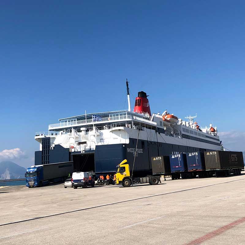 Arrival in Patras
