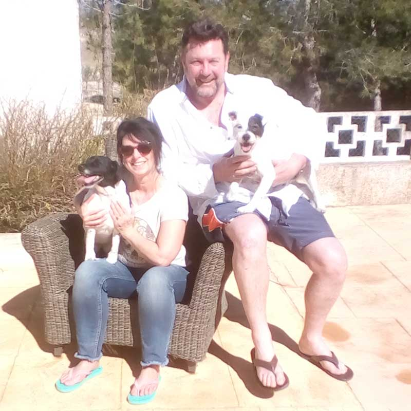 Cuddles in the Spanish sun for Bubba and Betty