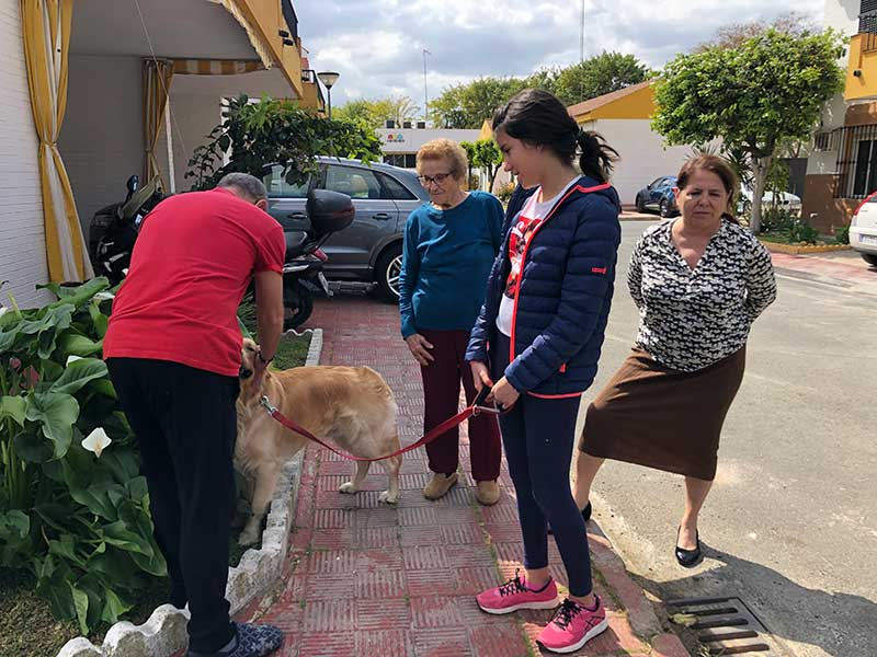 Friends and neighbours turned out to wish Coconut 'bon voyage'