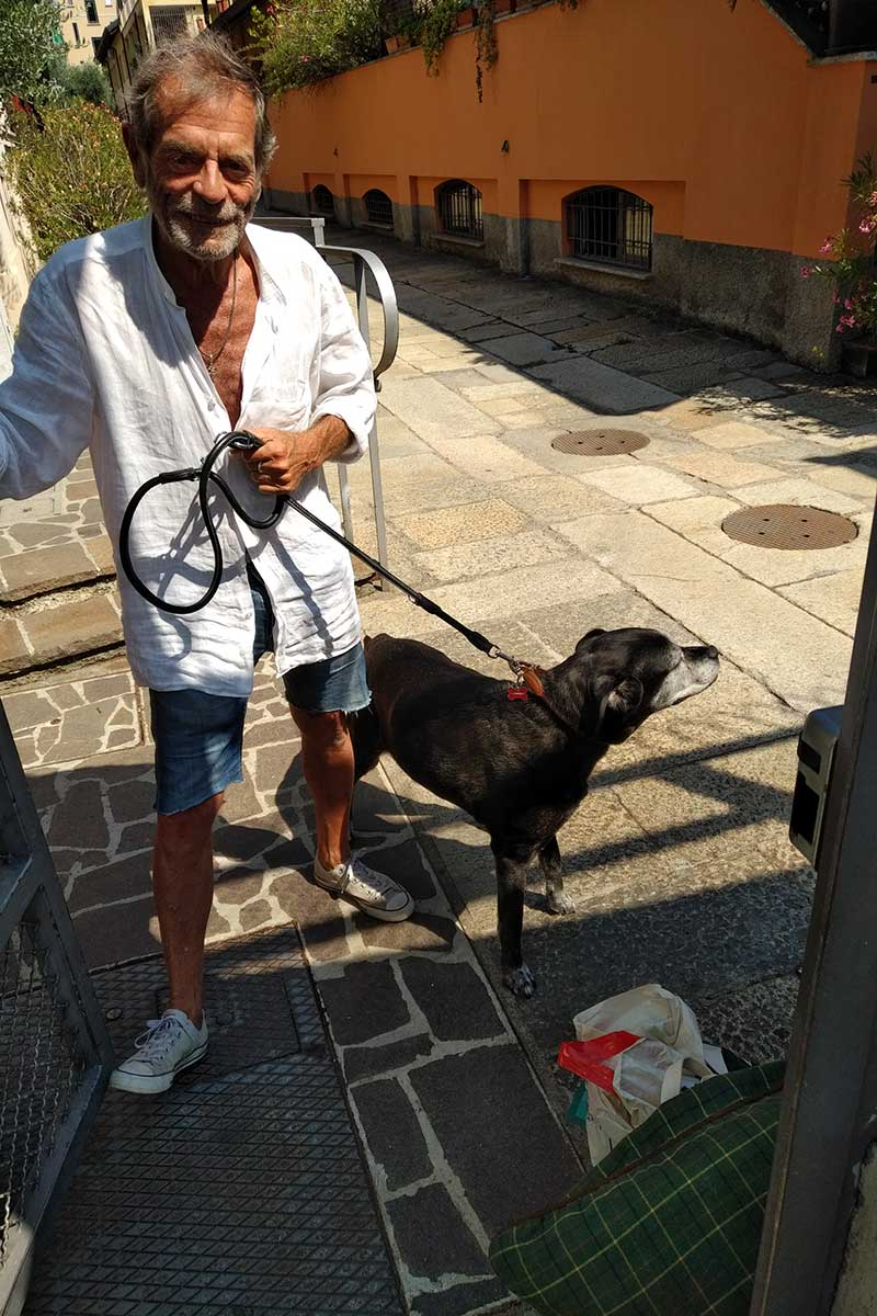 We delivered Lila to a family friend in Milan, who'll take care of her until Fausta arrives