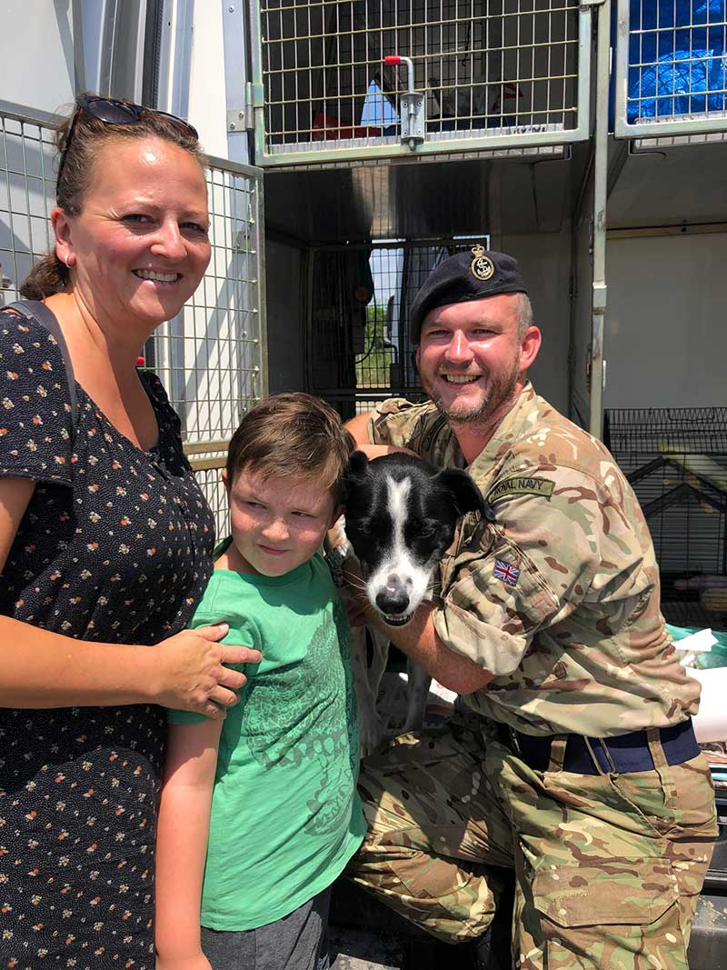The whole family was on hand to give much-loved Jack a proper send-off, and reassure him they would soon be reunited