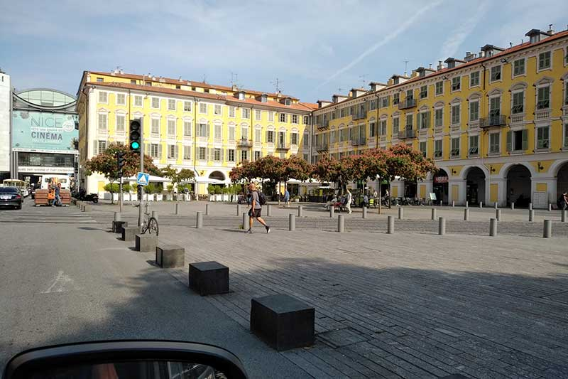 South of France: Nice's Place Garibaldi looked perfect for a coffee stop