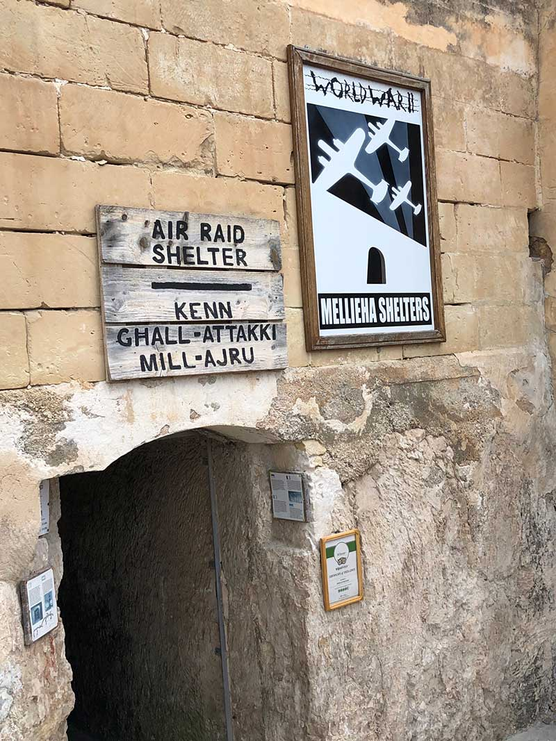 Courier M particularly enjoyed a wander round the town's WW2 air raid shelter, which was used extensively as Malta endured 3,300 air raids.