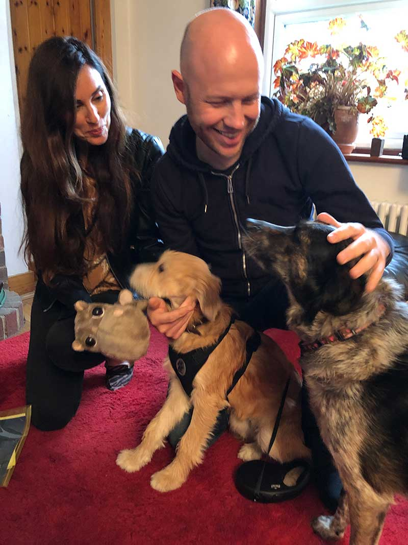 When Melissa and her partner came to collect Coco, house dog Bonnie wanted in on the action too! Bonnie is also a rescue dog from Greece who knows what it means to find a loving home.