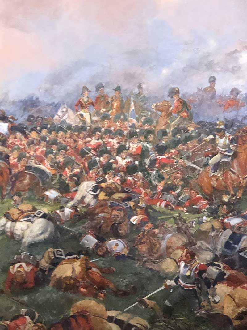 One panel of an enormous diorama of the battle