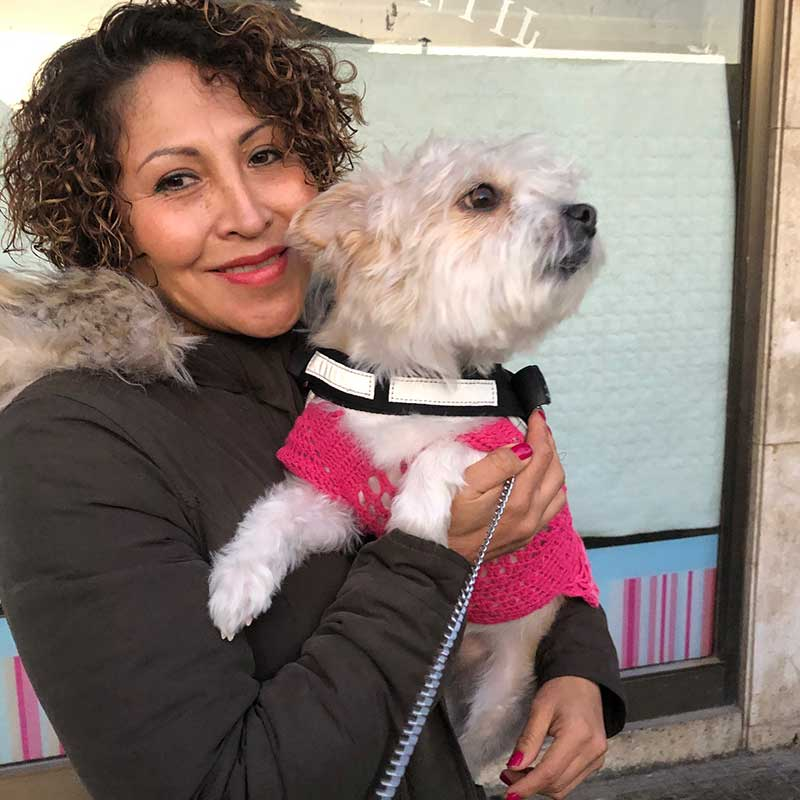 Magali says goodbye to Nina in Barcelona