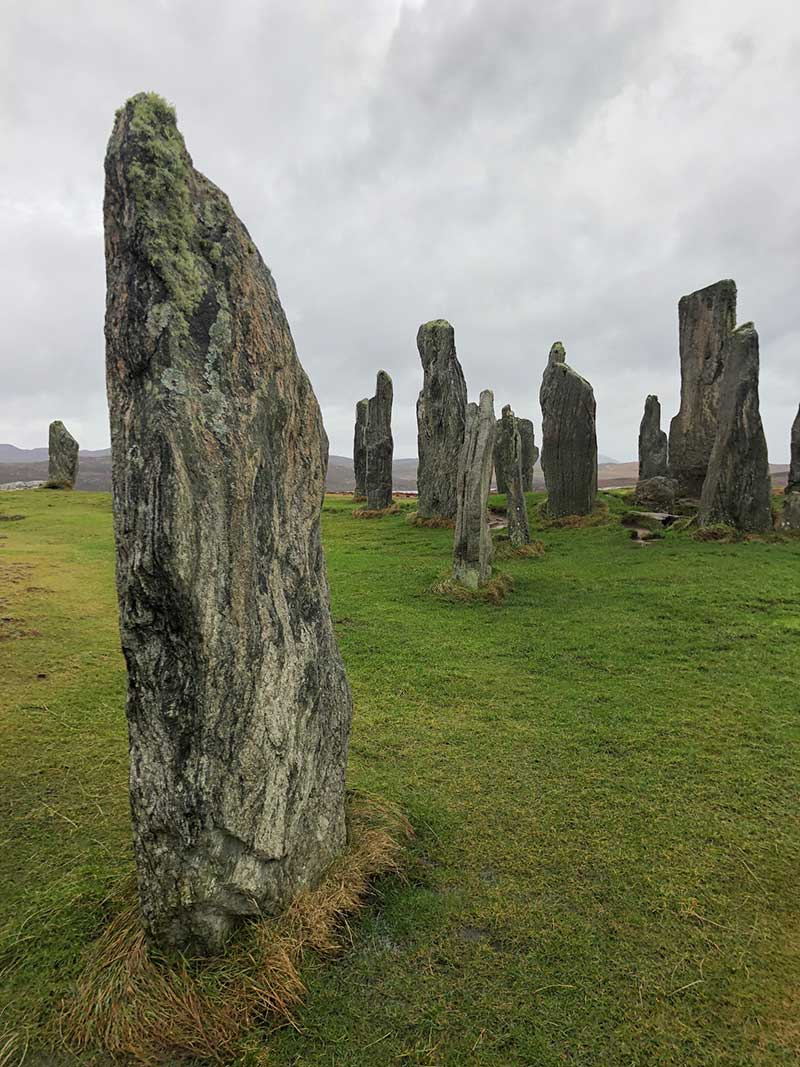 Standing stones at Callanish on Isle of Lewis